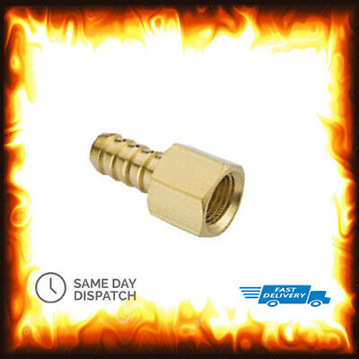 """1/4"""" BSP to 6mm Brass Female Barb Hose Tail Fitting Fuel Air Gas Water Hose Oil"""