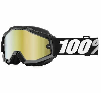 100% Accuri Snow Goggles - Tornado with Yellow Lens