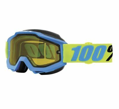 100% Accuri Snow Goggles - Belize with Yellow Lens