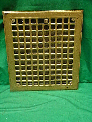 Vintage 1920S Iron Heating Grate Square Design 14 X 12 D