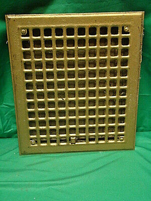 Vintage 1920S Iron Heating Grate Square Design 14 X 12 E