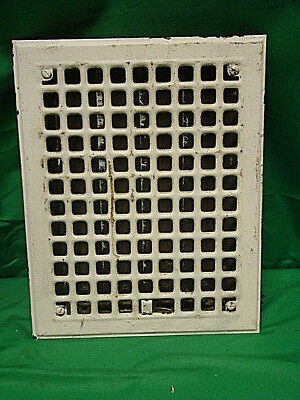 Antique Iron Heating Vent Grate Square Design 14 X 11  C