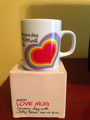Avon Love Ceramic Mug - May Your Day Be Filled with Love - 1984