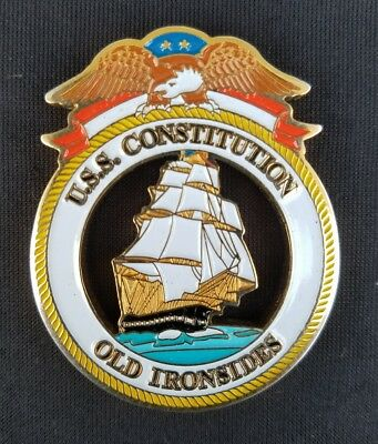 RARE! MINT! USS Constitution Old Ironsides Undefeated Navy Challenge Coin
