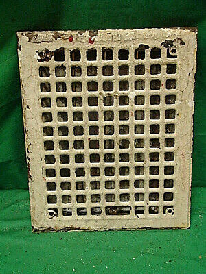 Antique Iron Heating Vent Grate Square Design 14 X 11  K