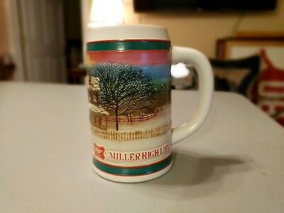 """Miller High Life """"To the Best Holiday Traditions"""" Holiday Christmas Beer Stein"""