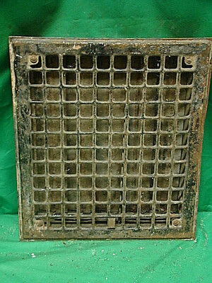 Vintage 1920S Iron Heating Grate Square Design 14 X 12 J