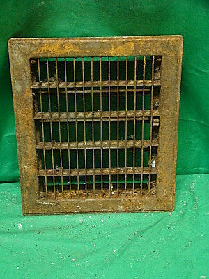 Vintage 1920S Cast Iron Heating Grate Rectangular 12 X 10