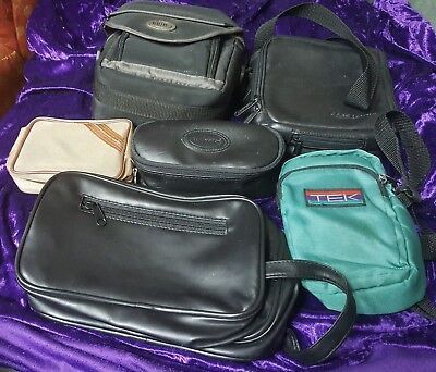 6 CAMERA BAG Carrier BAGS LOT vintage Case Logic Remington Tek Digital Concepts
