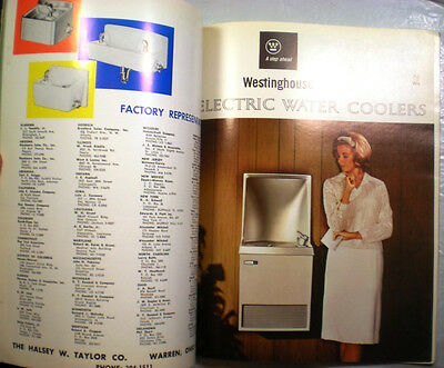 Vtg OASIS Halsey Taylor WH RETRO Catalogs Water Cooler Drinking Fountains 1965