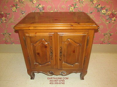 ETHAN ALLEN CHATEAU Normandy Door Cabinet Bedside Commode Night ...