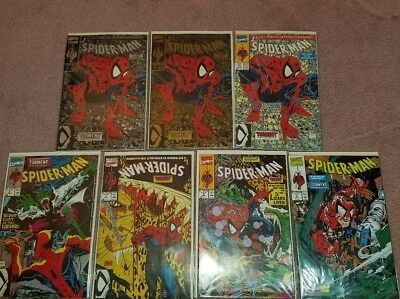 SPIDER-MAN #1-#5 TORMENT part 1-5 All 3 #1 editions gold silver and green.