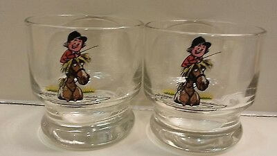 Norman Thelwell Horse Equestrian pair of glasses--SUPER CUTE!!!