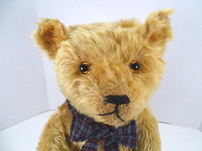 "c1920 American Gold Mohair Teddy Bear  18"" Tall  A Wonderful Bear"