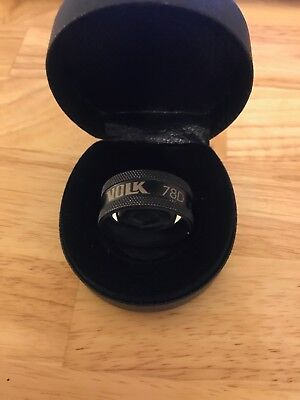 VOLK 78D (Diopter) Double Aspheric Ophthalmic Lens with Case