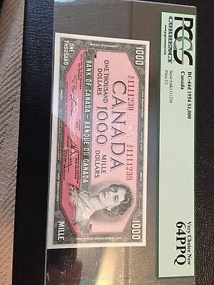 Bank of Canada $1000 BC-44d Very Choice New 64PPQ, 1954