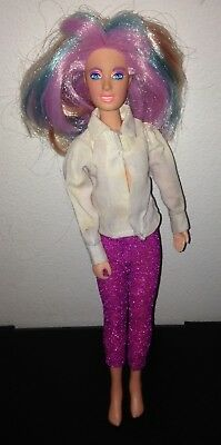 Vintage 1985 Hasbro Jem And The Holograms Doll With Multi-Colored Hair
