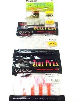 Megabass Worm Vios Zull peta 1.75inch 3package Set Lure Rare Limited Japan