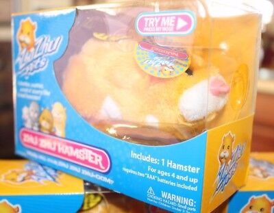 "New Zhu Zhu Hamster Pet ""nugget"" (Rare Gold & White) 2008"
