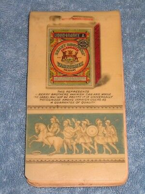 Berry Brothers Varnish 1902 Celluloid Calendar Notepad with Super Graphic Tin