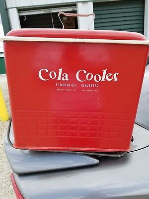 1950's Vintage Cola Cooler Poloron Products Inc. Fiberglass Insulated NY Nice