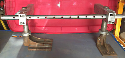 """Shop Built Line Boring Bar With Stands, 30"""" Loa X1-1/8"""" Dia. Free Shipping To Us"""