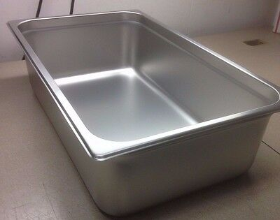 "(lot of 6) FULL SIZE 6"" DEEP STAINLESS STEAM TABLE PANS FOOD PAN HOT TABLE 24 Ga"