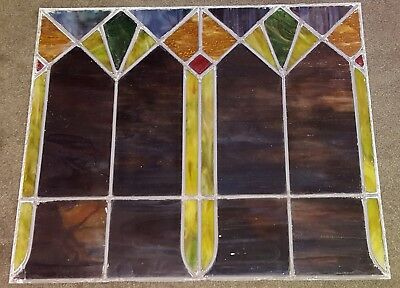 FABULOUS ART DECO STAINED LEADED GLASS WINDOW (1920s) FOR SALE...CHEAP!!!