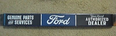 Vintage Style  Official  Ford Authorized Dealer & Parts Door Push Metal Embossed