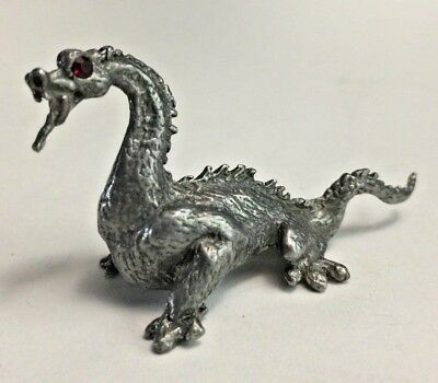No 870, Chinese Dragon Figurine with Jeweled Red Eyes