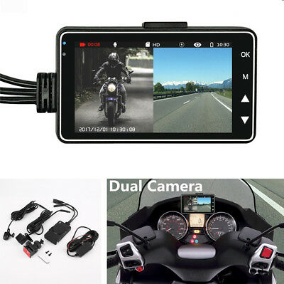 "3"" LCD Screen Motorcycle DVR Video Recorder + 140° Wide Angle Camera Waterproof"