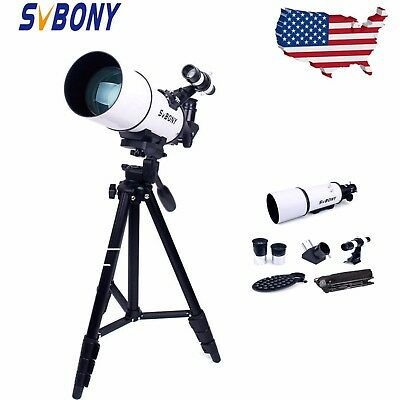 SV20 80mm Refractor Telescope FullyCoated Glass Optical+tripod&Adapter+eyepiece