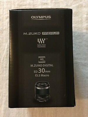 Olympus M.Zuiko Digital ED 30mm f/3.5 Macro Micro 4/3 Lens - Black - NEW