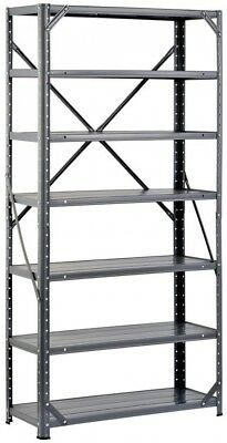 Freestanding Shelving Storage Unit Adjustable 60 x 30 x 12 in Steel Canning Gray