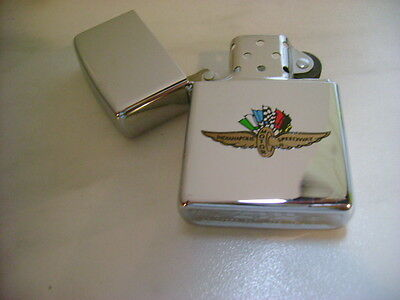Zippo Lighter Feuerzeug Indianapolis Chrome Polished 250 Cl 400 Indy New 1994