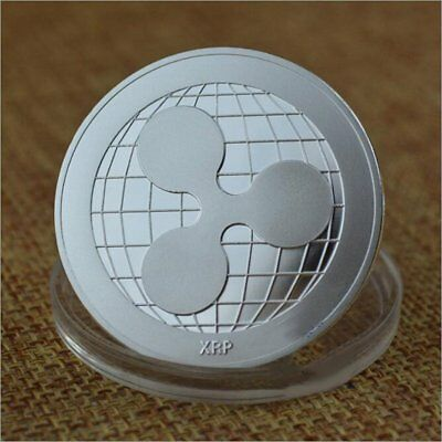 Silver Plated Ripple Coin Commemorative Coins Physical XRP Coins Collection Coin