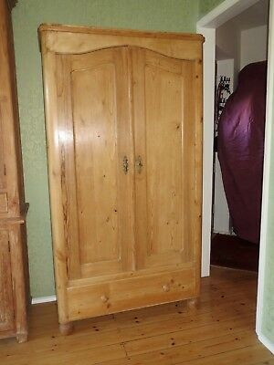 Antique Solid Pine Wardrobe Unique