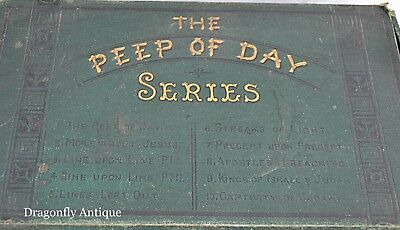Peep the Day Series 10 Religious Books Hatchards London Plates 1876 RARE Antique