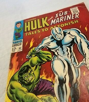Marvel Tales To Astonish #93 Hulk vs Silver Surfer silver age