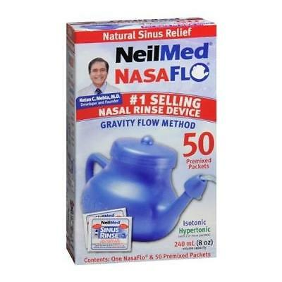 NeilMed NasaFlo Nasal Rinse Device with Packets 1 EA (5 Packs)