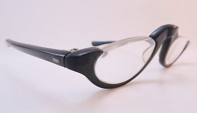 Vintage 50s half eye reading eyeglasses frames crystal grey acetate SMART