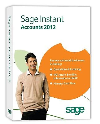 SAGE INSTANT ACCOUNTS 2012 - FOR NEW AND SMALL BUSINESS - New & Sealed
