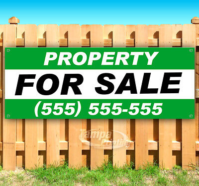 PROPERTY FOR SALE CUSTOMIZE Advertising Vinyl Banner Flag Sign Many Sizes USA