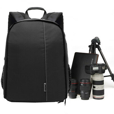 Waterproof DSLR SLR Camera Shoulder Case Bag Backpack For Canon EOS Nikon Sony