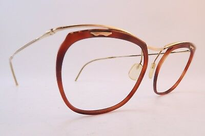 Vintage 50s eyeglasses frames gold filled acetate lens surrounds AMOR France