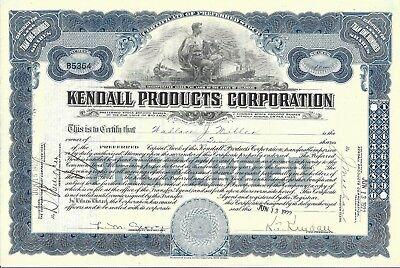 Kendall Products Corporation......1922 Preferred Stock Certificate