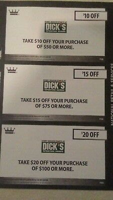 Dick's Sporting Goods Coupons Valid Through 12/31/18, In-store