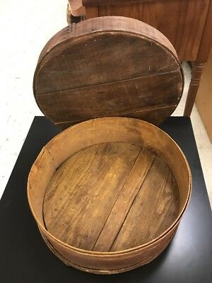 Antique Ct Us Primitive Country Kitchen Usa Wood Pantry Cheese Box Spice Storage