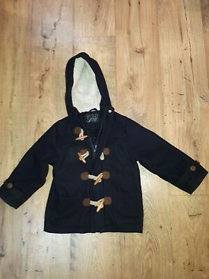 Boys navy duffle style winter coat age 4 to 5 years