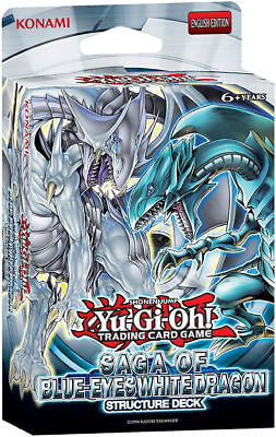 Yugioh  Saga Of Blue Eyes White Dragon Structure Deck   (Flat Packed)